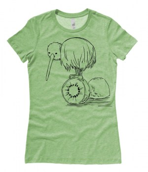 Fruity Kiwi Bird Ladies T-shirt