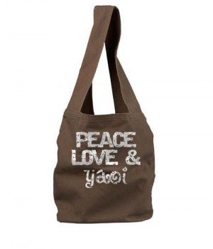 Peace Love and Yaoi Sling Bag