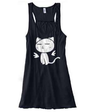 Angel Wings Kitty Flowy Tank Top