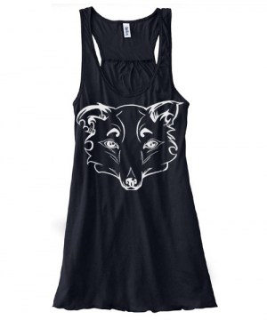 Mysterious Wise Kitsune Flowy Tank Top
