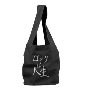 Rock is Life Sling Bag (white/black)