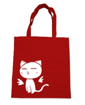 Angel Wings Kawaii Kitty Tote Bag