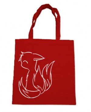 3-Tailed Baby Kitsune Tote Bag