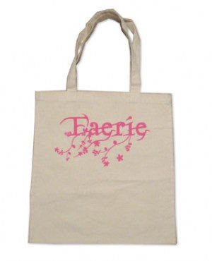 Faerie Tote Bag (pink/natural)