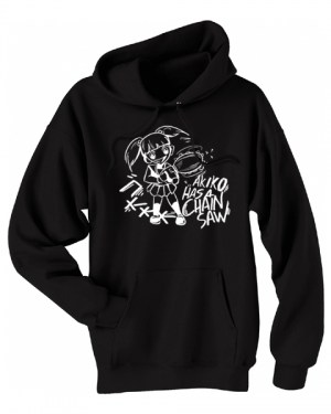 Akiko Has a Chainsaw Pullover Hoodie