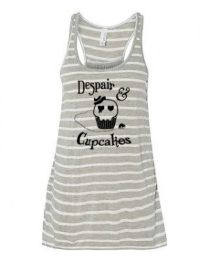Despair and Cupcakes Flowy Tank Top
