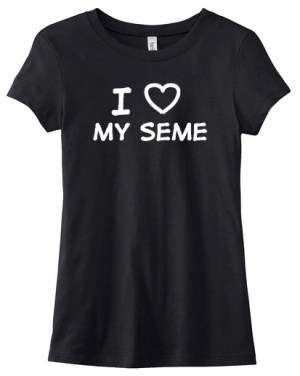 I Love my Seme Ladies T-shirt: Overstock Size M