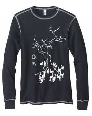Kitsune Fire Mens Long-Sleeve Thermal Shirt