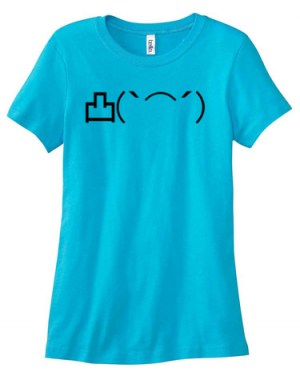 Angry Middle Finger Emoticon Ladies T-shirt