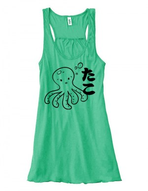 I Love TAKO - Kawaii Octopus Flowy Tank Top
