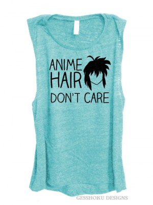 Anime Hair Don't Care Sleeveless Top