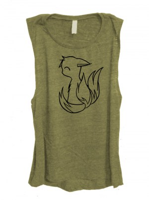 3-Tailed Baby Kitsune Sleeveless Top