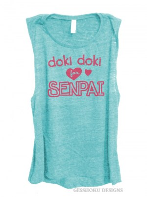 Doki Doki for Senpai Sleeveless Tank Top