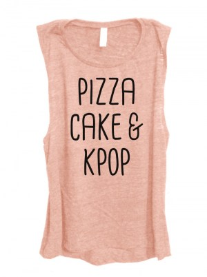Pizza Cake & Kpop Sleeveless Top