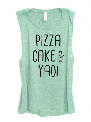 Pizza Cake & Yaoi Sleeveless Top