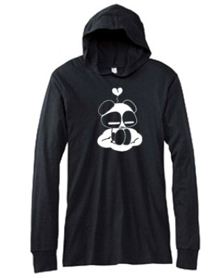 Chibi Goth Panda Hooded T-shirt