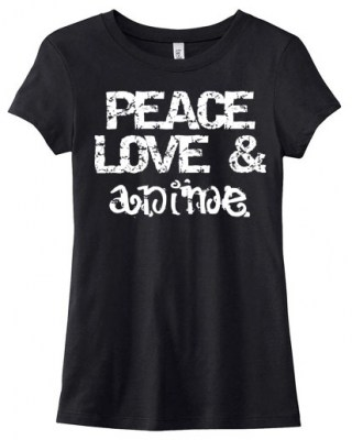 Peace Love & Anime Ladies T-shirt