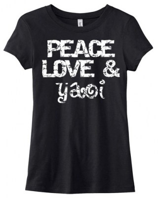 Peace Love & Yaoi Ladies T-shirt