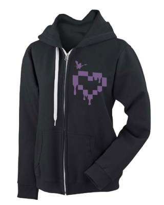 Pixel Drops Heart Fashion Fit Hoodie