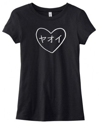 Yaoi Heart Katakana Ladies T-shirt