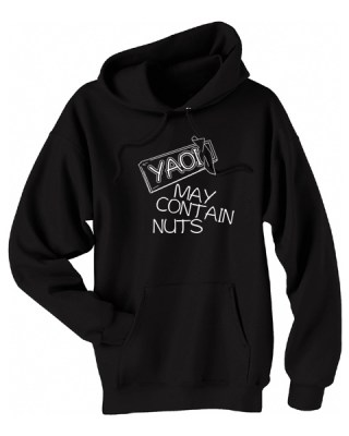 Yaoi May Contain Nuts Pullover Hoodie