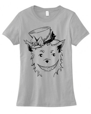 Grinning Wolf Ladies T-shirt