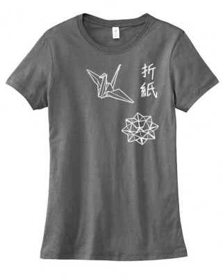 Origami Japanese Kanji Ladies T-shirt