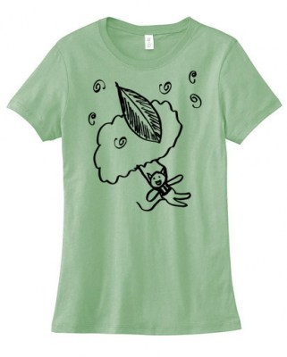 Skydiving Kitty Ladies T-shirt