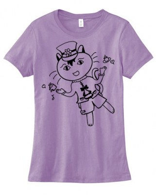 Tea Party Neko Ladies T-shirt