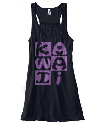Kawaii Block Flowy Tank Top