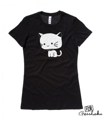 Chibi Goth Kitty Ladies T-shirt