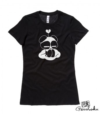 Chibi Goth Panda Ladies T-shirt