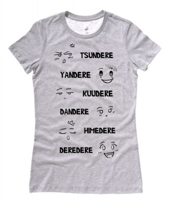 Dere Type Chart Ladies T-shirt