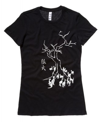 Kitsune Fire Ladies T-shirt
