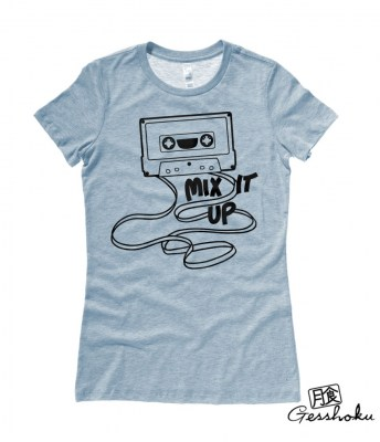 Mix It Up Retro Cassette Tape Ladies T-shirt