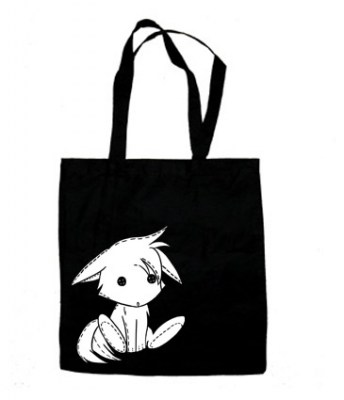 Plush Kitsune Tote Bag