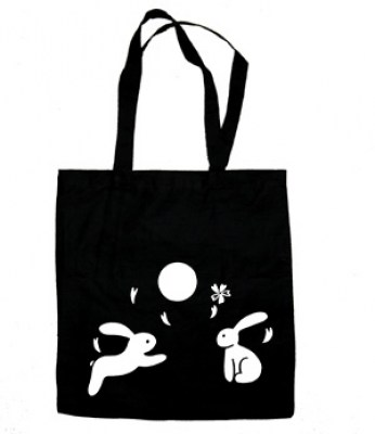 Asian Moon Bunnies Tote Bag