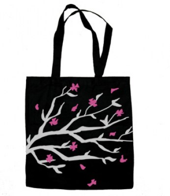 Sakura Blossoms Tote Bag (black)