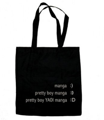 Yaoi Manga Emoticon Tote Bag