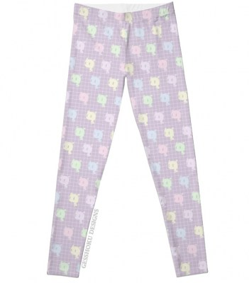 Kawaii Ghost Pastel Leggings