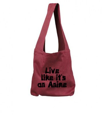 Live Like it's an Anime Sling Bag (black/red)