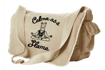 Calma as a Llama Messenger Bag