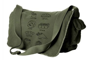 Sushi Types Messenger Bag