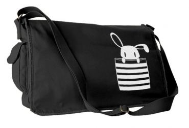 Bunny in My Pocket Messenger Bag