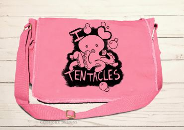 I Love Tentacles Messenger Bag