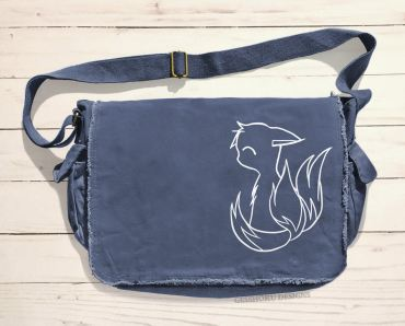 3-Tailed Baby Kitsune Messenger Bag