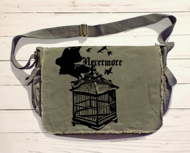 Nevermore: Raven's Cage Messenger Bag