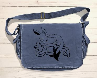 Sleepy Kitsune Messenger Bag