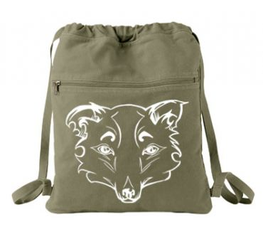 Mysterious Wise Kitsune Cinch Backpack