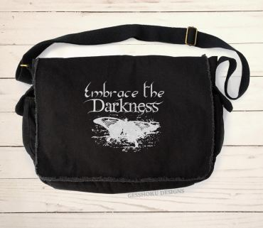 Embrace the Darkness Messenger Bag